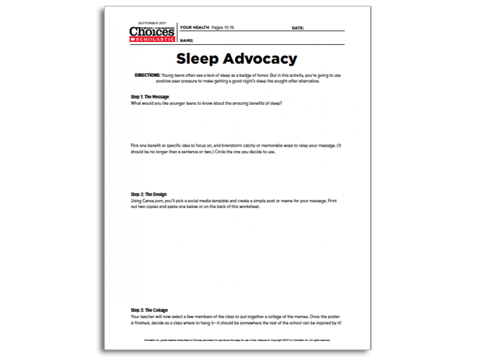 Teen Sleep This Lesson Plan Will Encourage Students To Get