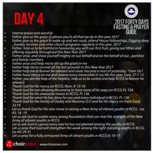 RCCG FASTING DAY 4