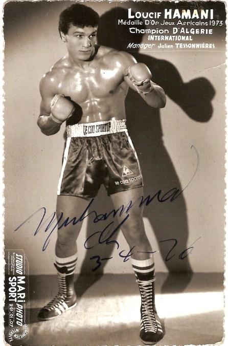 Notre merveilleux champion Loucif Hamani, l'un des plus grands boxeurs de tous les temps pour moi.