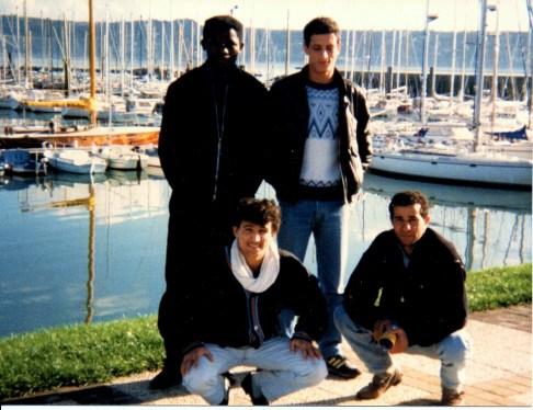 "En haut de gauche à droite : Germain Djida et Ali Rouane. En bas : Idir Saïdani et Mohamed Medjahed alias ""Marlboro""."