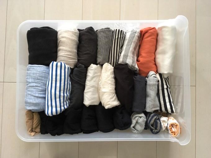 洋服の収納ケースを整理