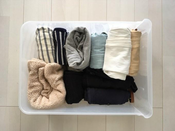 洋服の収納ケースを整理2