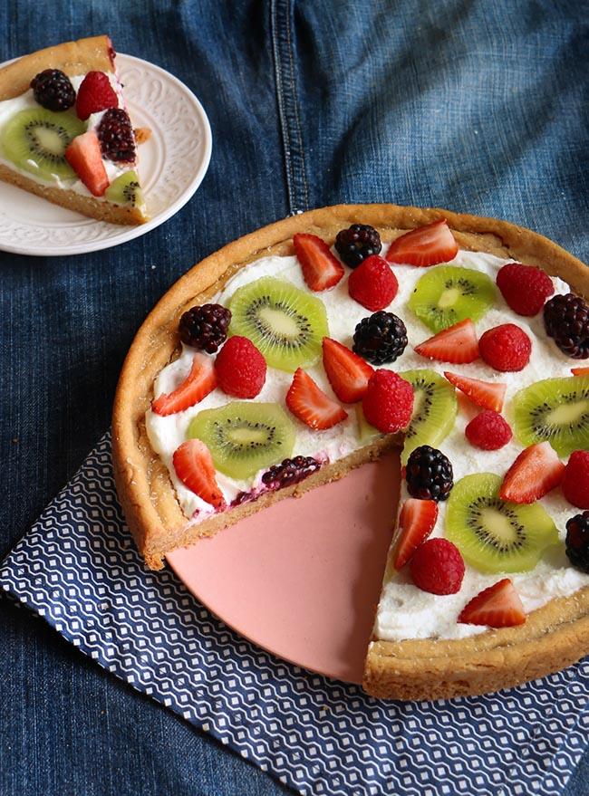 Pizza de Frutas # elpostreideal