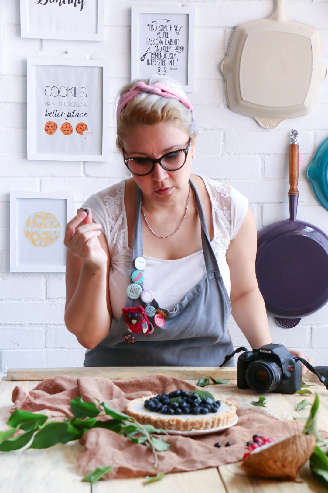 tarta de coco y Blueberries |chokolatpimienta.com