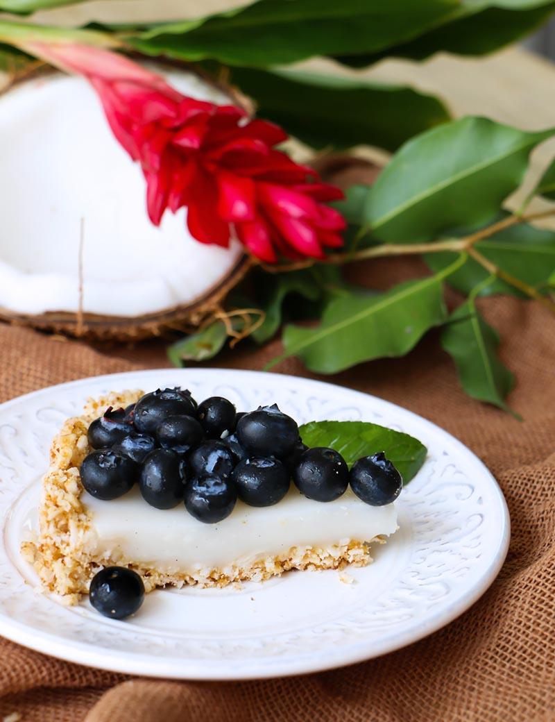 tarta de coco y Blueberries|chokolatpimienta.com