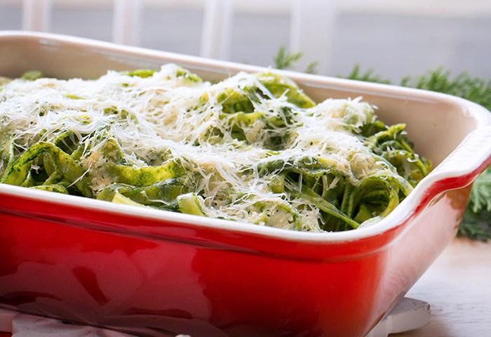 pasta en salsa verde