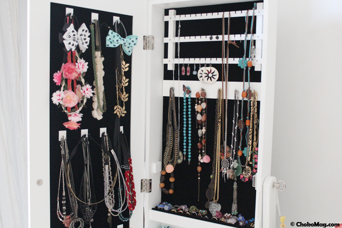 le meuble armoire range bijoux miroir