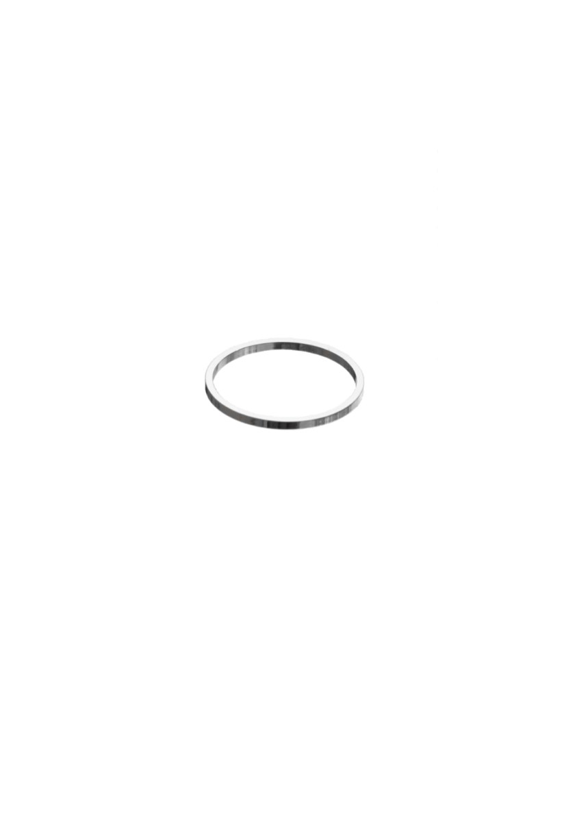 The thin circle ring is a delicate unisex classic made in France from high polished silver.