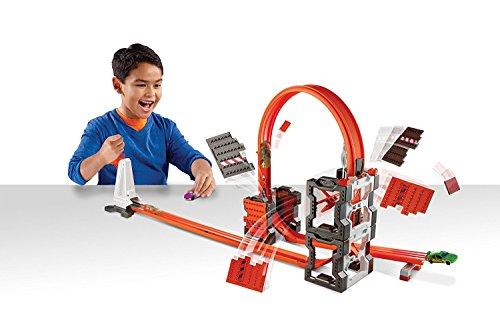 Hot Wheels DWW96 – Track Builder, kit para pista de demolición por