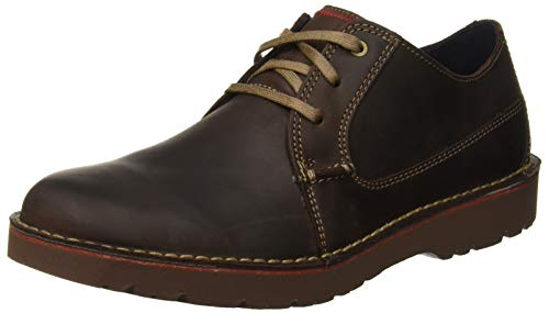 Clarks Vargo Plain, Zapatos de Cordones Derby para Hombre, Marrón (Dark Brown Leather), 43 EU    Precio: 48.95€        visita t.me/chollismo