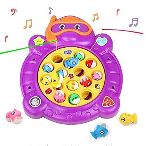 👕️ HCHENG Juego de Pesca de Mesa Juguete Musical Educativo Peces Rotativos Coloridos Juguetes Eléctricos para Niños Niñas 3 4 5 Años   💸 Precio: 9.99€    🛒    Prueba nuestro asistente