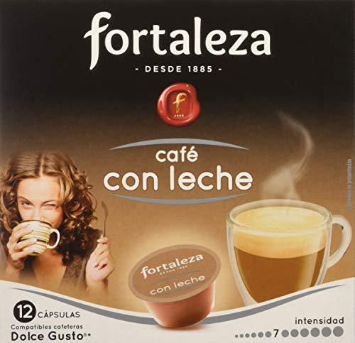 Café FORTALEZA – Cápsulas de Café Con Leche Compatibles con Dolce Gusto – Pack 3 x 12 – Total 36 cápsulas    Precio: 7.73€        visita t.me/chollismo