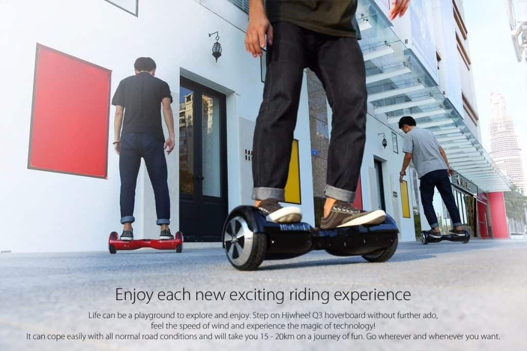 Oferta monopatín eléctrico Hoverboard Hiwheel Q3 por 103 euros (Oferta FLASH)
