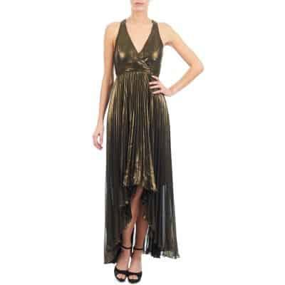 Vestido dorado Manoukian por 127,20 euros. Descuento del 20%
