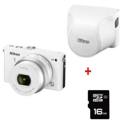 Chollo: Cámara Nikon 1 J4 blanca por 279 euros (60% dto.)