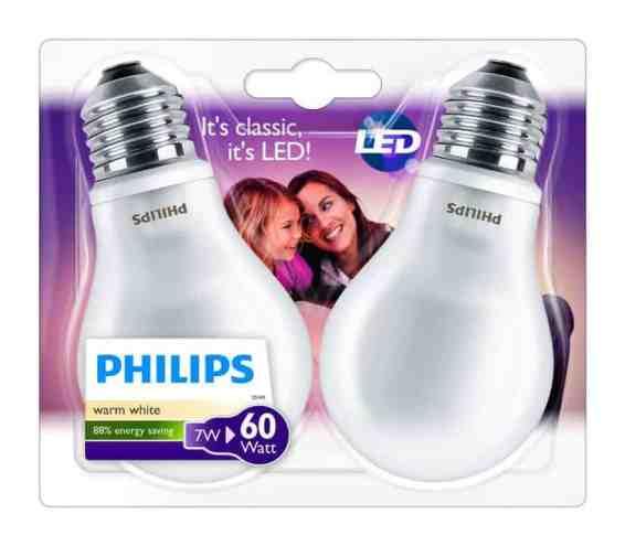 Oferta bombillas LED Philips pack por 9 euros (40% DTO.)