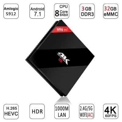 Oferta Android TV Box H96 Pro+ 32GB por 47 euros (Cupón descuento)