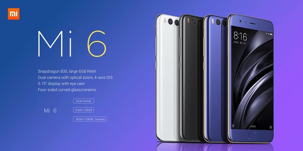 Oferta Xiaomi Mi6 por 418 euros (Cupón Descuento)