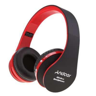 Oferta auriculares bluetooth plegables de Andoer por 9 euros desde Reino Unido
