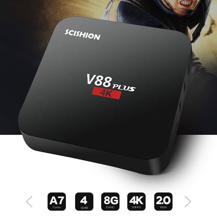 Chollo Scishion V88 PLUS Android TV 4K por 25 euros (Cupón Descuento)