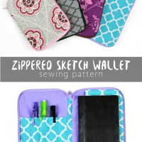Free Pattern Friday! Zippered Sketch Wallet