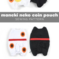 Free Pattern Friday! Maneki Neko Coin Pouch