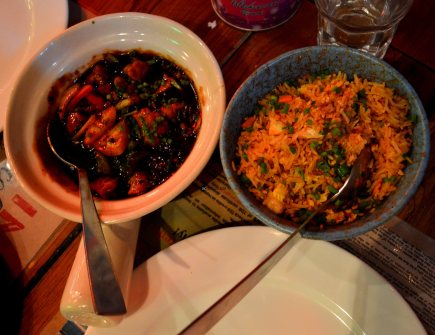 fried rice and black bean sauce