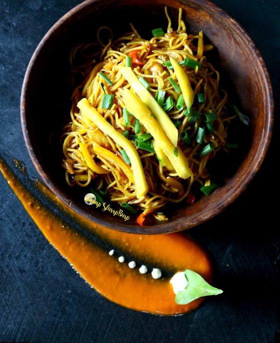 Asian style Mango Noodles