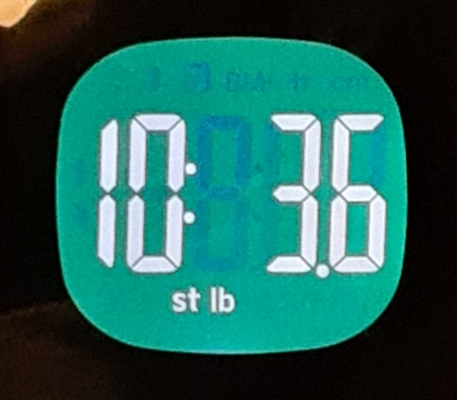 What the scales say this week