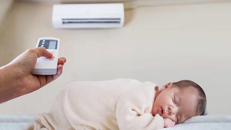 Nguyên tắc khi trẻ ngủ điều hòa