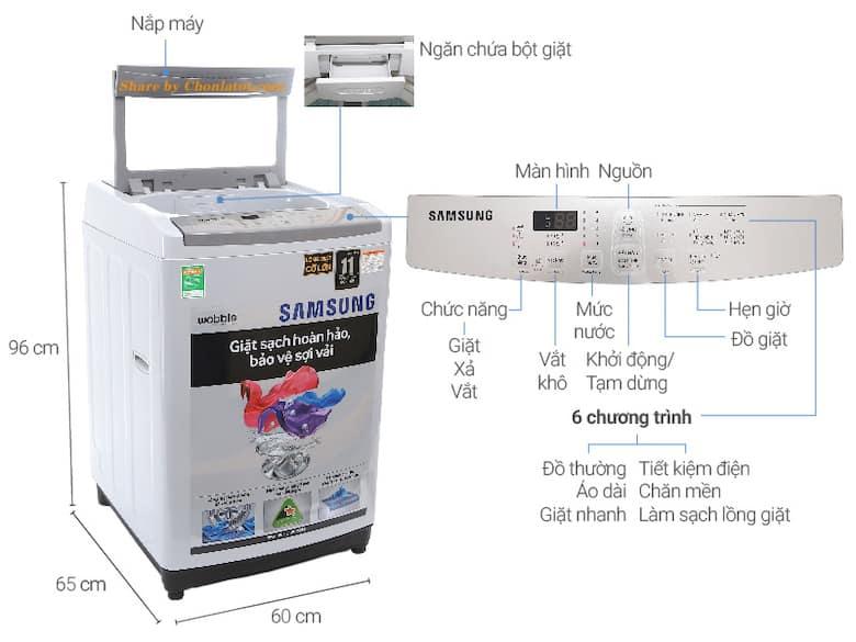 Kích thước máy giặt của trên chuẩn