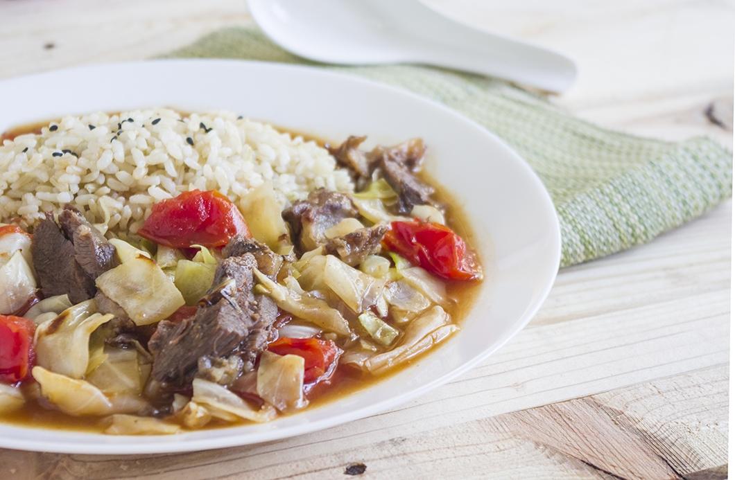 Tomato Beef Gravy over Rice | 番茄牛肉燴飯