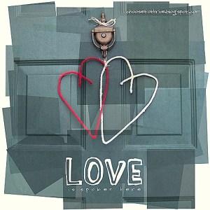 Primitive Valentine's Hearts Door Hanging