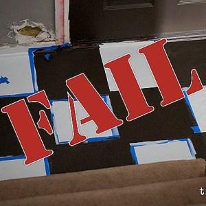 How NOT to paint a vinyl floor–Epic FAIL