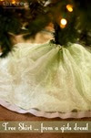 Make a Christmas tree skirt from a girls dress - choose-to-thrive.com