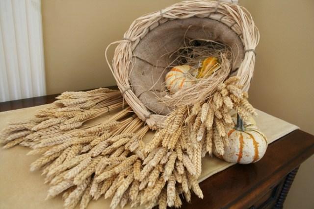 bundles of wheat grass