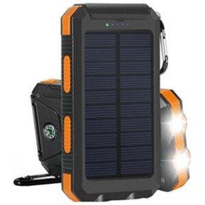 Solar External Backup Battery Pack Dual USB Solar Panel Charger