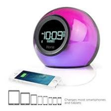 iHome iBT29BC Bluetooth Color Changing Dual Alarm Clock