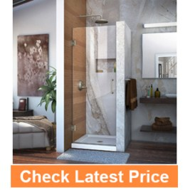 DreamLineUnidoor 30 in. Frameless Hinged Shower Door