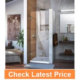 DreamLineUnidoor 30 in. Frameless Hinged Shower Door