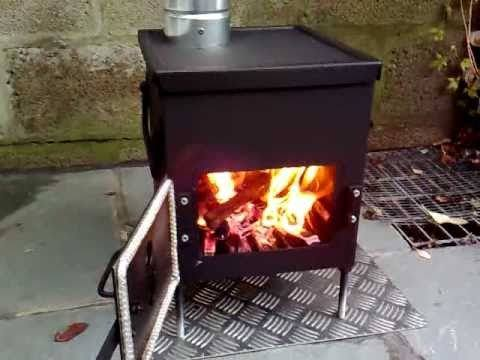 a small wood stove