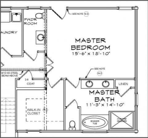 Standard master bedroom size