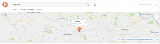 duckduckgo map search
