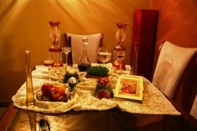 Noworoczny stół u moich przyjaciół w Teheranie