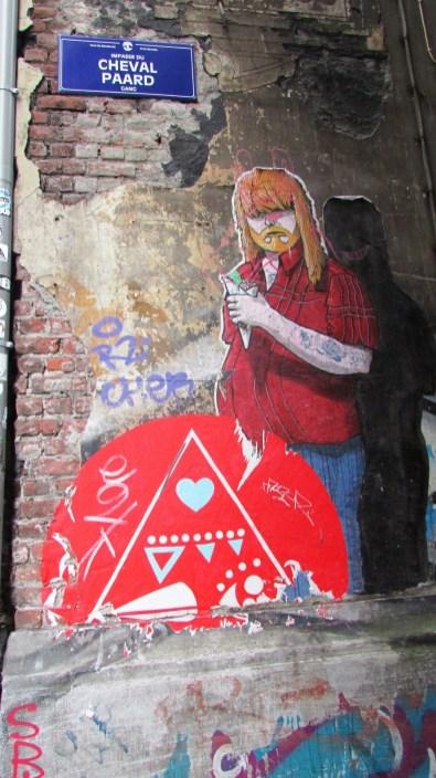 Street art w Brukseli