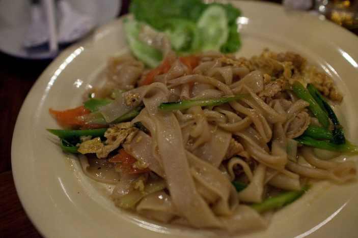 Noodles in Battambang, Cambodia.