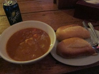 Got some minestrone soup when I was sick in Sihanoukville, Cambodia.