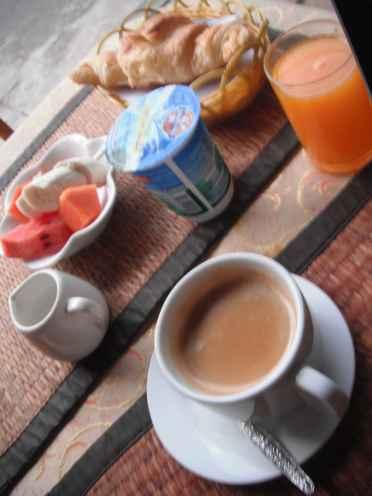 Breakfast in Luang Prabang, Laos.
