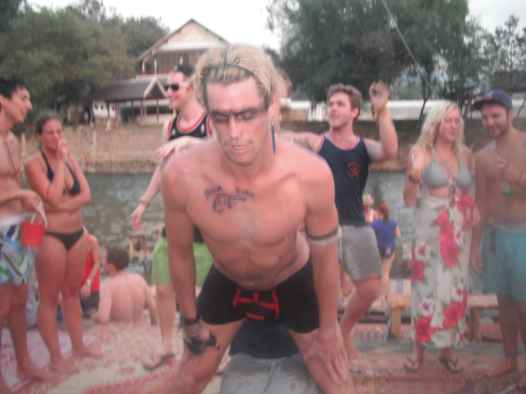 My Birthday lap dance in Vang Vieng, Laos.