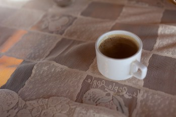 Coffee on the house boat in Kerala, India.